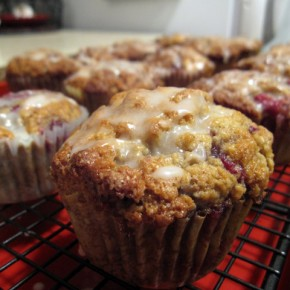 Orange-Glazed Fresh Raspberry Muffins