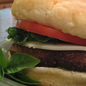 Eggplant Burgers with Tomato and Lettuce