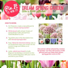 2013 Dream Spring Garden Pin it to Win It Contest!