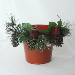 Pot with Clip-on Ornaments