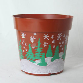 Pot Colored with Paint Markers