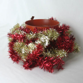 Pot With Garland Around It