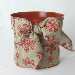 Pot Covered with Ribbon