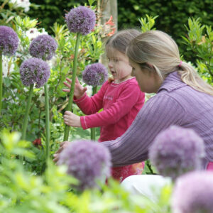 Mother and Daughter with Allium